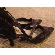 Zapatos Polini 36 Color Café Con Taco Alto