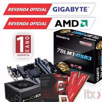 Kit Gamer Fx-8320e + Gigabyte Ga-78lmt-usb3 + 8gb + 600w