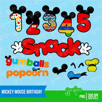 Kit Imprimible Mickey Mouse Imagenes Clipart Cod 3