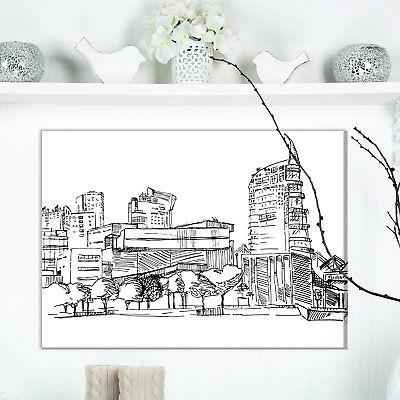 Pintura De Casas Modernas De Lisboa Dibujo Impresión En 457990