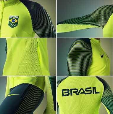 a4f5278ae75f9 Casaco Nike Time Brasil Olimpíadas Rio 2016 - R  799