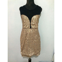 Vestido De Lentejuelas Color Cobre