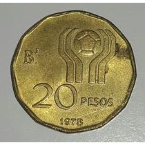 Moneda Argentina Mundial 78 20 Pesos *146