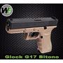 Pistola We Glock G17 Bitono 6mm - Airsoft - Blowback! Envios