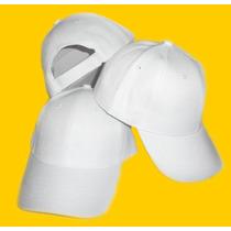 Gorra Unicolor Blanca Para Niño Especial Para Bordar