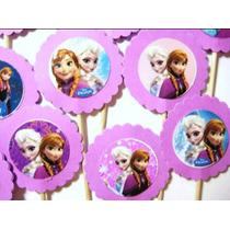 30 Frozen Cupcakes Toppers Fiesta Candy Bar Mesas De Dulces