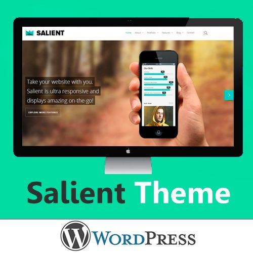 Salient - Theme, Tema Pro Premium Wordpress - S/ 19,99 en Mercado Libre