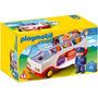Playmobil 6773 Autobus De Pasajeros 1 2 3 Al Aeropuerto