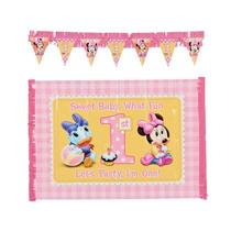 Bebé Minnie Mouse Primera Cumpleaños Silla De Decoración De