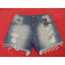 Shorts Boyfriend Tamanho 48 Jeans Desfiado