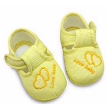 Sapatinho De Bebê Importado Com Solado Antiderrapante