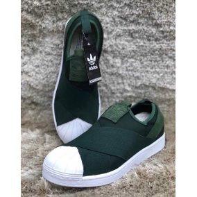 13b01521d Tênis adidas Superstar Slip On Elastico Verde - R  200
