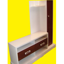 Porta Pantalla Lcd Led Smart Plasma Master Blanco/tabaco