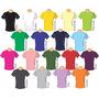 Camiseta Colorida - Gola V - 100% Algodão