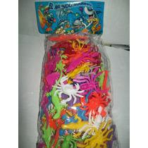 Gcg Lote Animales Del Mar Sin Arañas Plastico 100 Pzas Retro