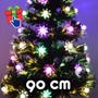 Árbol De Navidad 90cm Luminoso Por Led Y Fibra Óptica 220v