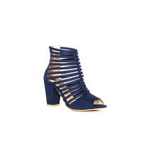 Trender Sandalia De Tiras En Color Azul Marino