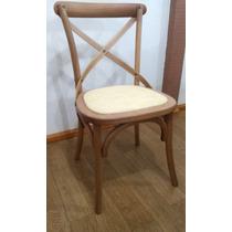 Cadeira X Paris Madeira Natural Colorida Decorativa Design