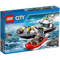 Lego City - Barco De Patrulha Da Polícia - 60129 - 200 Peças