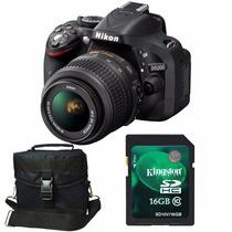 Nikon D5200 Kit 18-55mm+ Memo 16gb C10+ Bolso+ Envío+ Gtia!!