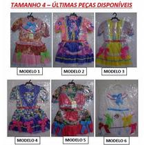 Vestido Infanto-juvenil Festa Junina 4 A 16 Anos Estampado