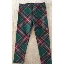 Gap Calza Larga Leggings Escocesa Nena T3 Levhe Importados