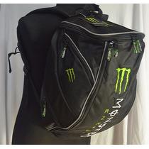 Mochila Motoqueiro Capacete Notebook Monster Energy
