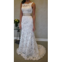 Vestido Noiva Simples Casamento Decote Costas Calda Vrl540