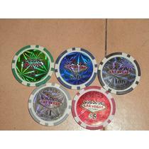 Fichas Poker Profesional 100pz De 11.5gr Holograma Las Vegas