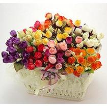 144 Botões Rosas De Cores Variadas - Flores Artificiais Flor