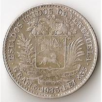 Venezuela, Bolivar, 1935. Plata. Vf
