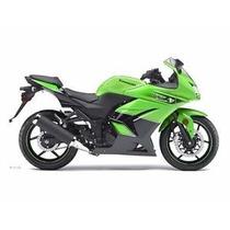 Carenagem Lateral Esq Verde E Preto Kawasaki Ninja 250