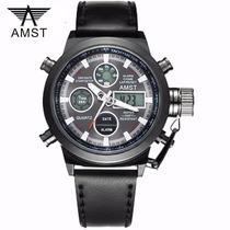 Relógio Amst-3003 - Black - Ganhe 1 Porta-latas !!!!!!