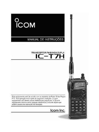 manual em portugu s do r dio icom ic t7h r 5 00 em mercado livre rh produto mercadolivre com br Navigation Icom Radio Accessories icom ic-t7h manual