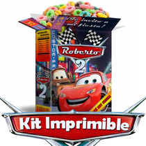 Cars Kit Impimible Cars Rayo Mcqueen Con Figuras Armables