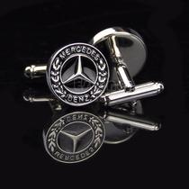 Mancuernillas Logo Mercedes Benz Auto De Lujo Acero Camisa