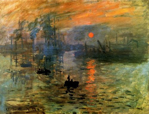 Nascer Do Sol Barcos Céu Paris 1872 Pintor Monet Tela Repro - R ...