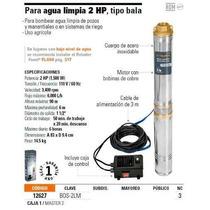 Bomba Para Agua Limpia Truper 2 Hp Tipo Bala