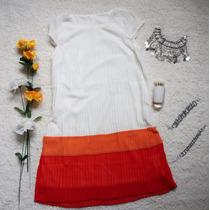 Vestido/remerón Corto Gasa,modal Animal Print, Encaje Fiesta