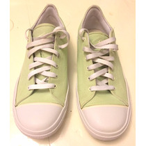 Zapatillas N-i-k-e De Lona Color Verde Claro - Impecables!!