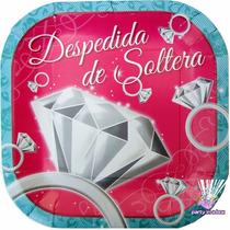 Fiesta Despedida De Soltera Platos Vasos Invitaciones