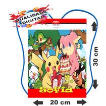50 Mochilinhas Bolsinhas Sacolinhas Personalizadas # Pokémon