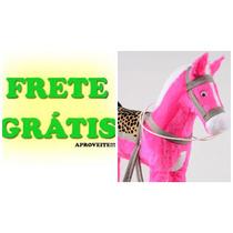 Frete Grátis! Cavalinho De Pelúcia Artesanal Promoção!!