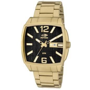 f31f1f3b0a5f1 Relógio Masculino Mormaii Mo2315zn 4p Dourado Escovado - R  399
