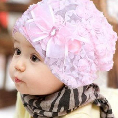 Hermoso Gorro De Encaje Para Bebé Niña 3 Meses A 2 Años -   269.00 en  Mercado Libre c9f5db9c2ba