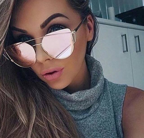 9a8867ac0fc Oculos De Sol Feminino Dior Rose Espelhado C  Proteção Uv - R  169 ...