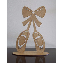 10 Sapatilhas Bailarina Mdf Lembrancinha 15 Anos Aniversario