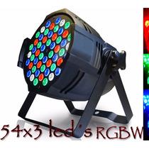 Kit 6 Refletor Par 64 54 Leds Cree De 3w Rgbw Dmx Strobo .