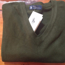 Sweater Cashmire Polo Verde ! Ultimos!