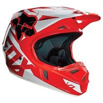 Casco Fox V1 Race Rojo 2016 Motocross Atv Talla M